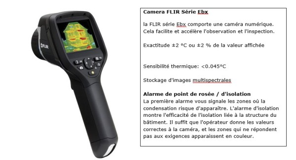 Caméra pour thermographie infrarouge